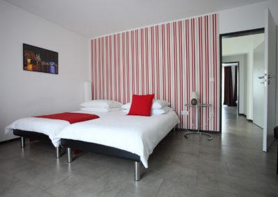 Schlafzimmer Zweizimmer-Ferienwohnung in Köln